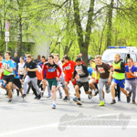 Open city field and track relayrace in the streets of Grodno