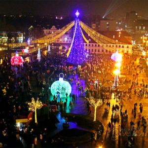 New Year's Eve in Lenin Square